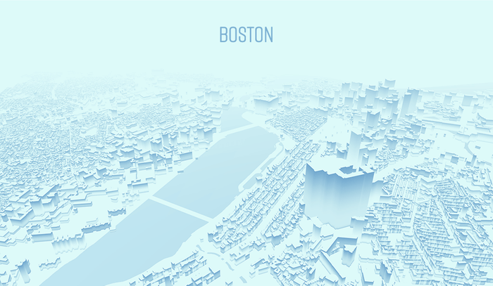 Stylized Map of Boston 4