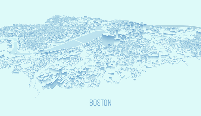 Stylized Map of Boston 2