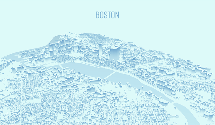 Stylized Map of Boston 3