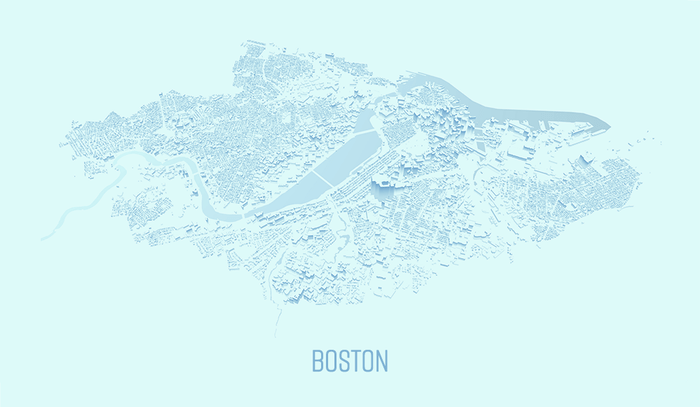 Stylized Map of Boston 1